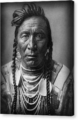 Strike On His Head - Crow Warrior 1908 Canvas Print