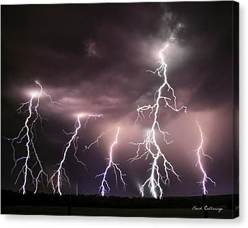 Striking Memories Thunderstorm Canvas Print