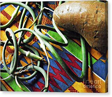String Beans And Yam Canvas Print by Sarah Loft
