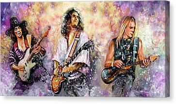 Strings Of Deep Purple Canvas Print