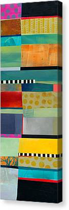Stripe Assemblage 2 Canvas Print by Jane Davies