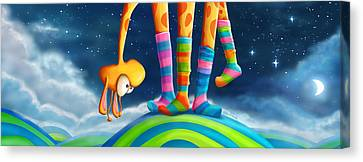 Colorful Sky Canvas Print - Striped Socks - Revisited by Tooshtoosh