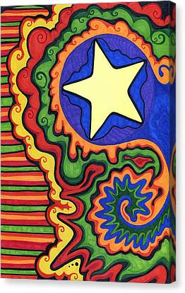 Stripes And Star Canvas Print by Mandy Shupp
