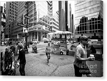 Canvas Print featuring the photograph Stripes In The City by John Rizzuto