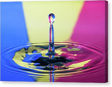 Stripped Water Drop Canvas Print