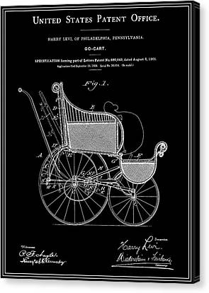 Go Cart Canvas Print - Stroller Patent - Black by Finlay McNevin