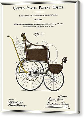 Go Cart Canvas Print - Stroller Patent by Finlay McNevin