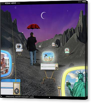 Canvas Print featuring the photograph Strolling Down Memory Lane by Mike McGlothlen
