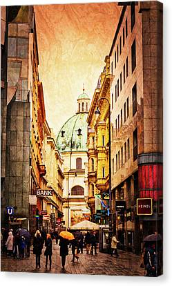 A Rainy Day In Vienna Canvas Print