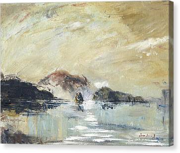 Sicily Canvas Print - Stromboli Sicily by Juan Bosco