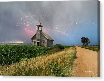 Stromsburg School Canvas Print