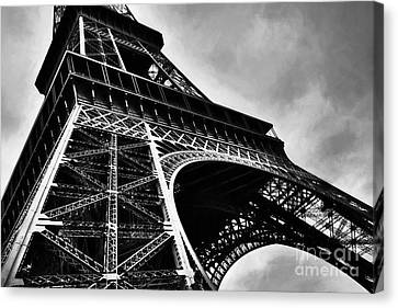 Strong As Steel In Paris Canvas Print by Mel Steinhauer