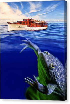 Undertow Canvas Print - Strong Cross Currents And A Vicious Undertoad by Dominic Piperata