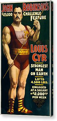 Strongest Man On Earth - Vintage Strongman Canvas Print by War Is Hell Store