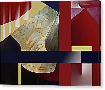Canvas Print featuring the digital art Structure 0217 by Walter Fahmy
