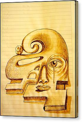 Structure Of Thought Canvas Print by Paulo Zerbato