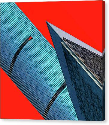 Structures Tilted 2 Canvas Print by Bruce Iorio