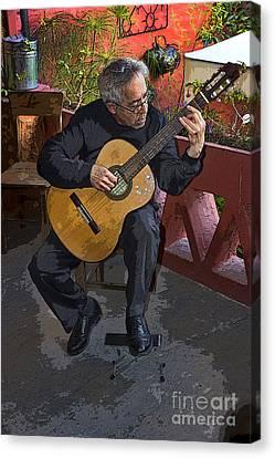 Strummin' My Six-string Canvas Print by Al Bourassa