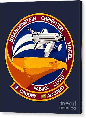 Sts-51g Insignia Canvas Print by Art Gallery