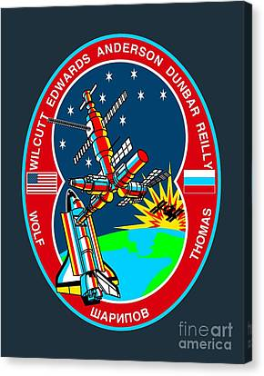 Sts-89 Crew Insignia Canvas Print by Art Gallery