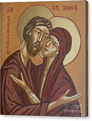 Orthodox Canvas Print - Saints Joachim And Anna by Olimpia - Hinamatsuri Barbu