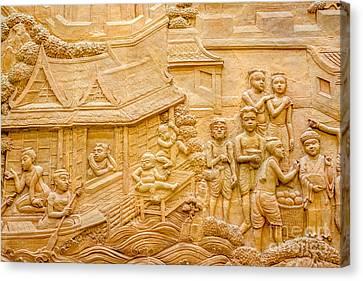 stucco art of Thailand  Canvas Print by Thanawat  Wongsuwannathorn