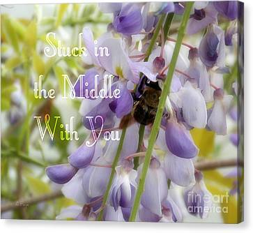 Wisteria In Bloom Canvas Print - Stuck In The Middle - Phrase by Anita Faye