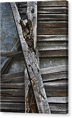 Stud And Lath Canvas Print by Murray Bloom