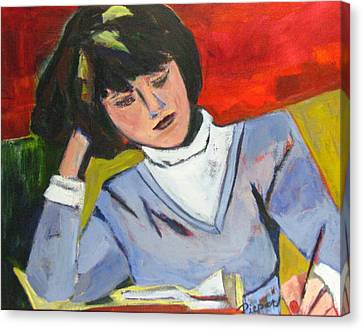 Student Canvas Print by Betty Pieper