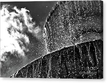 Students Fountain Canvas Print