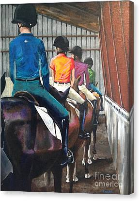 Jumping Horse Canvas Print - Students Learning by Kathy Laughlin