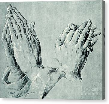 Studies Of Hands Canvas Print by Hans Hoffmann