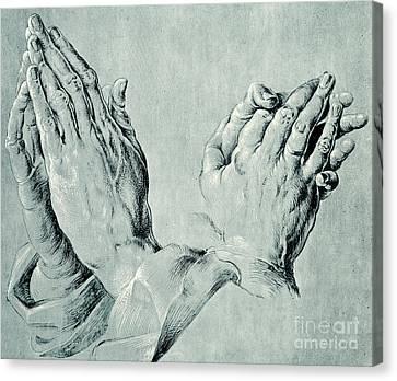 Studies Of Hands Canvas Print