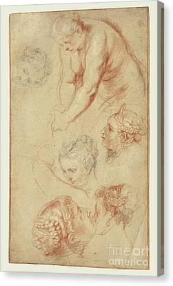 Munch Canvas Print - Studies Of Women By Peter Paul Rubens by Esoterica Art Agency