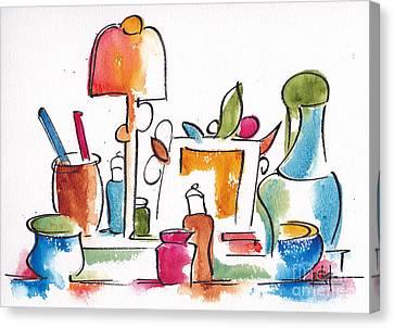 Studio Pals Abstract #9 Canvas Print by Pat Katz