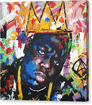 Street Art Canvas Print - Biggie Smalls by Richard Day
