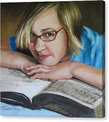 Study Break Canvas Print by Jeanne Rosier Smith