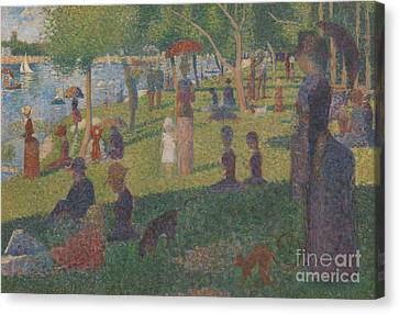 Study For A Sunday On La Grande Jatte, 1884 Canvas Print by Georges Pierre Seurat