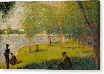 Study For A Sunday On La Grande Jatte Canvas Print by Georges-Pierre Seurat