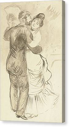 Study For Countryside Dance Canvas Print by Pierre Auguste Renoir