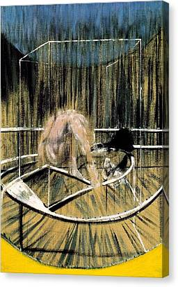 Study For Crouching Nude Canvas Print by Francis Bacon