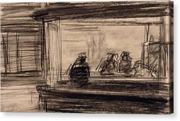 Study For Nighthawks Canvas Print