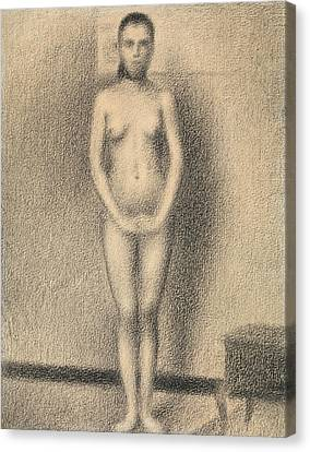 Study For Poseuses Canvas Print by Georges-Pierre Seurat