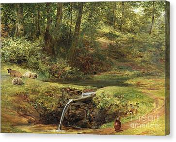 Clearing Canvas Print - Study For The Sylvan Spring, 1854 by Richard Redgrave