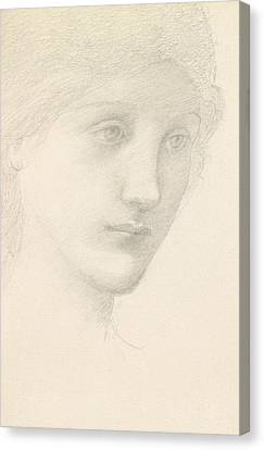 Study For The Venus In The Godhead Fires Canvas Print by Sir Edward Burne-Jones