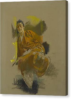 Study In Japanese Costume Canvas Print