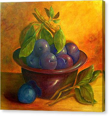 Study In Purple Canvas Print by Susan Dehlinger