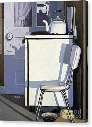 Study In White Enamel Canvas Print by Donald Maier