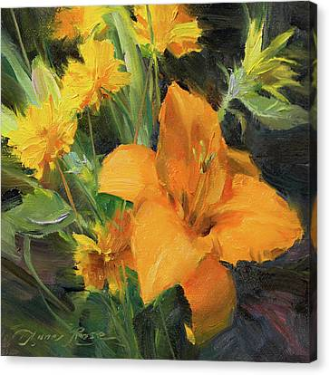 Study In Yellow Canvas Print by Anna Rose Bain