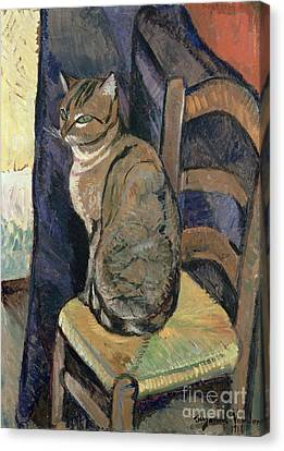 1918 Canvas Print - Study Of A Cat by Suzanne Valadon